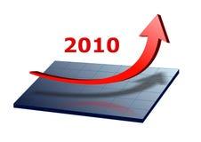 affärsgraf 2010 stock illustrationer