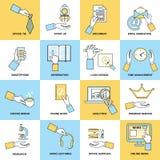 Affärshänder sänker linjen Fotografering för Bildbyråer