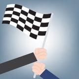 Affärshanden som tillsammans segrar, kan använda som affärsbakgrund som tillsammans segrar teamworkbegrepp, illustrationvektorn i Royaltyfria Foton