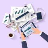 Affärsidé - arbetsbegrepp - plan design stock illustrationer