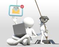 Affärsidé av internetsvindeln med phishing Royaltyfri Foto