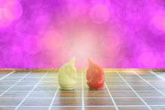 Affärsidé av schackstycken på brädet Royaltyfri Fotografi