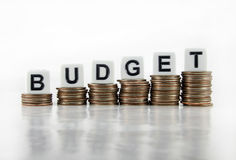 """Affärsidé för budget- †"""" royaltyfri fotografi"""