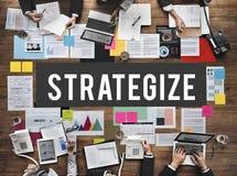 Affärsidé för dokumentmarknadsföringsstrategi arkivfoto