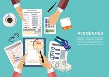 Affärsidé för finans också vektor för coreldrawillustration Royaltyfri Foto