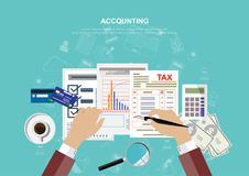 Affärsidé för finans också vektor för coreldrawillustration Fotografering för Bildbyråer