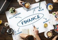 Affärsidé för finansfinansieringkommers royaltyfri bild
