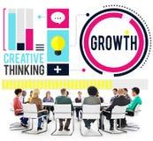 Affärsidé för framgång för tillväxtförbättringsutveckling arkivfoton