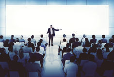 Affärsidé för konferens för möte för coachningMentoringseminarium Royaltyfria Bilder