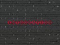 Affärsidé: Integration på väggbakgrund Royaltyfri Bild