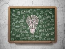 Affärsidé: Ljus kula på skolförvaltningbakgrund Royaltyfri Foto