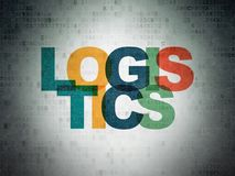 Affärsidé: Logistik på pappersbakgrund för Digitala data Royaltyfri Bild