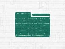 Affärsidé: Mapp på väggbakgrund Arkivfoton