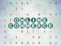 Affärsidé: Online-kommers på pappersbakgrund för Digitala data vektor illustrationer