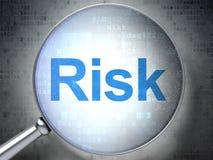 Affärsidé: Risk med optiskt exponeringsglas Royaltyfri Bild