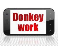 Affärsidé: Smartphone med åsnaarbete på skärm Royaltyfri Bild