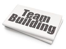 Affärsidé: Team Building på tom tidningsbakgrund Royaltyfri Foto