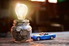 Affärsidébilförsäkring eller försäljning och köpbil, bilfinanci royaltyfri bild