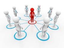 affärsidéen 3d isolerade nätverkswhite 3d framför stock illustrationer