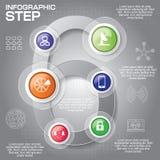 Affärsidéen med 6 alternativ, särar, kliver eller processar Arkivbild