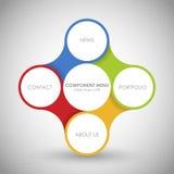 Affärsidéen med 4 alternativ, särar, kliver eller processar Royaltyfri Foto