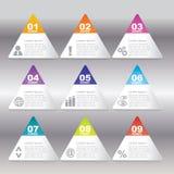 Affärsidéen med 12 alternativ, särar, kliver eller processar kunna Royaltyfria Foton