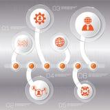 Affärsidéen med 6 alternativ, särar, kliver eller processar kunna Arkivfoto