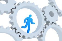 affärsidéen tjaller running vektor illustrationer