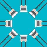Affärsidéer i den plana designen för rengöringsduken, e-kommers, vektor stock illustrationer