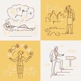 Affärsidéer - uppsättning av linjen designstilillustrationer stock illustrationer