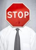 Affärsidémetafor av fel, spänning, förbud Arkivfoton