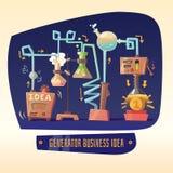 Affärsinfographics på ämnet av idéer och vinst royaltyfri illustrationer