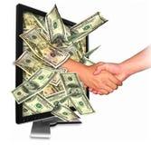 affärsinternetpengar Arkivfoton