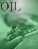 affärsiraq olja stock illustrationer