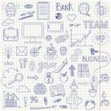 Affärsklotterbakgrund Arkivbilder