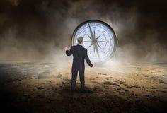 Affärskompass, försäljningar, mål, marknadsföring Arkivbild