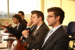 affärskonferensfolk