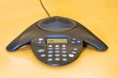 affärskonferenstelefon Arkivbild