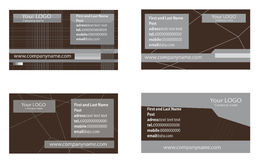 affärskort vektor illustrationer