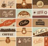 Affärskort av kaffe stock illustrationer
