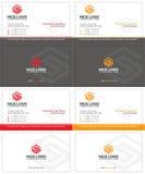 Affärskort för bokstav s Arkivfoton