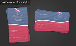 Affärskort för en stylist Royaltyfri Bild