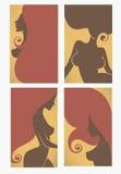 Affärskort för skönhetsalong, frisörer, solenoid Arkivbild
