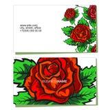 Affärskort med blommabegrepp Fotografering för Bildbyråer