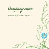 Affärskort med den blom- prydnaden i indisk stil Arkivfoto