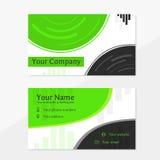 Affärskort med gräsplan- och grå färgfärger Royaltyfri Foto