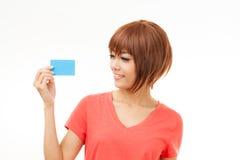 Affärskort och tomt tecken Fotografering för Bildbyråer
