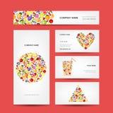 Affärskortdesign, fruktsamling Arkivbilder
