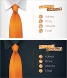 Affärskortdesign, skjorta och bandillustration vektor illustrationer