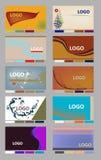 affärskortorienteringar stock illustrationer